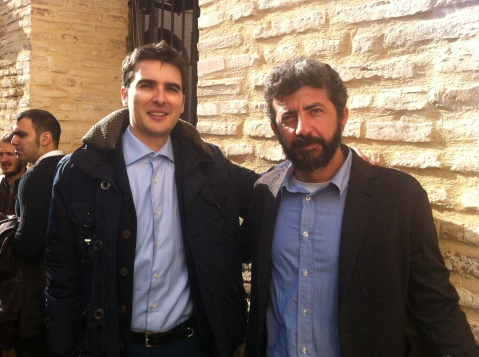 Jorge López Arregui con Alberto Rodríguez (director de La isla Mínima)